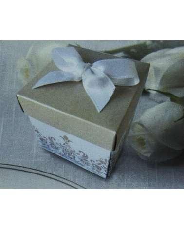 Partecipazione scatolina in cartoncino madreperlato