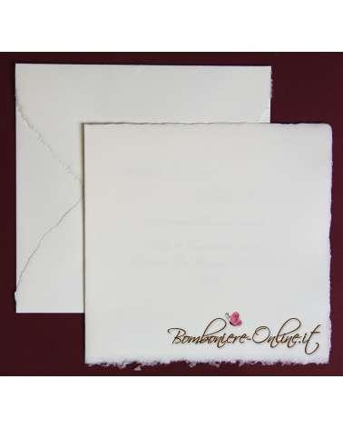 Partecipazione in Carta Amalfi quadrata ap. libro