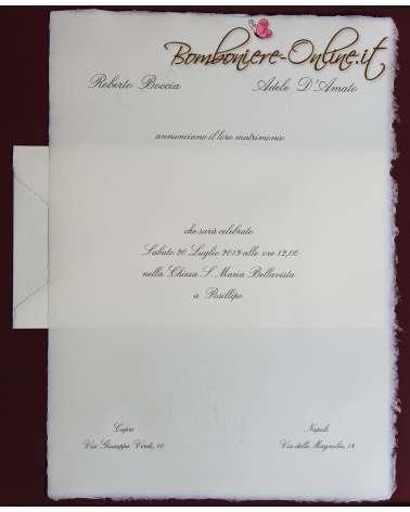 Partecipazione in Carta Amalfi f.to A4