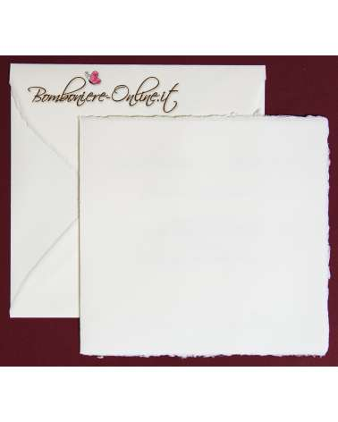 Partecipazione in Carta Amalfi bianca quadrata ap. libro 2