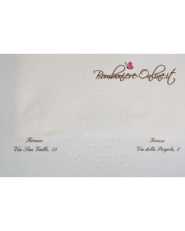 Partecipazione in Carta Amalfi bianca f.to A4 2