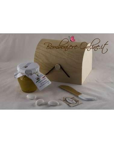 Marmellata con pratico spalmino in scatola personalizzabile