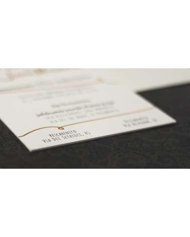 Partecipazione matrimonio carta 850 gr 2 colori