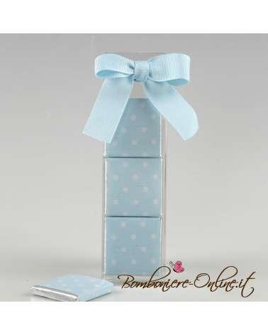 Box 3 cioccolatini rosa/azzurro