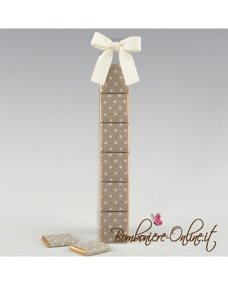 Box 6 cioccolatini tortora