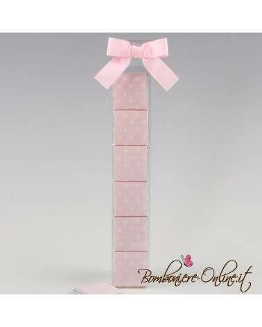 Box 6 cioccolatini rosa/azzurro