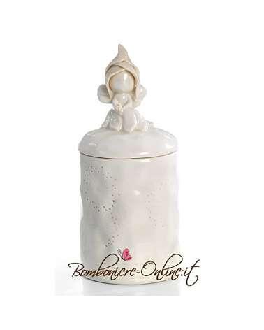 Scatola Fatina in ceramica con coperchio