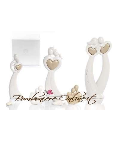 """Bomboniere Matrimonio: Innamorati grandi  con cuore  """"sposi in Love"""""""