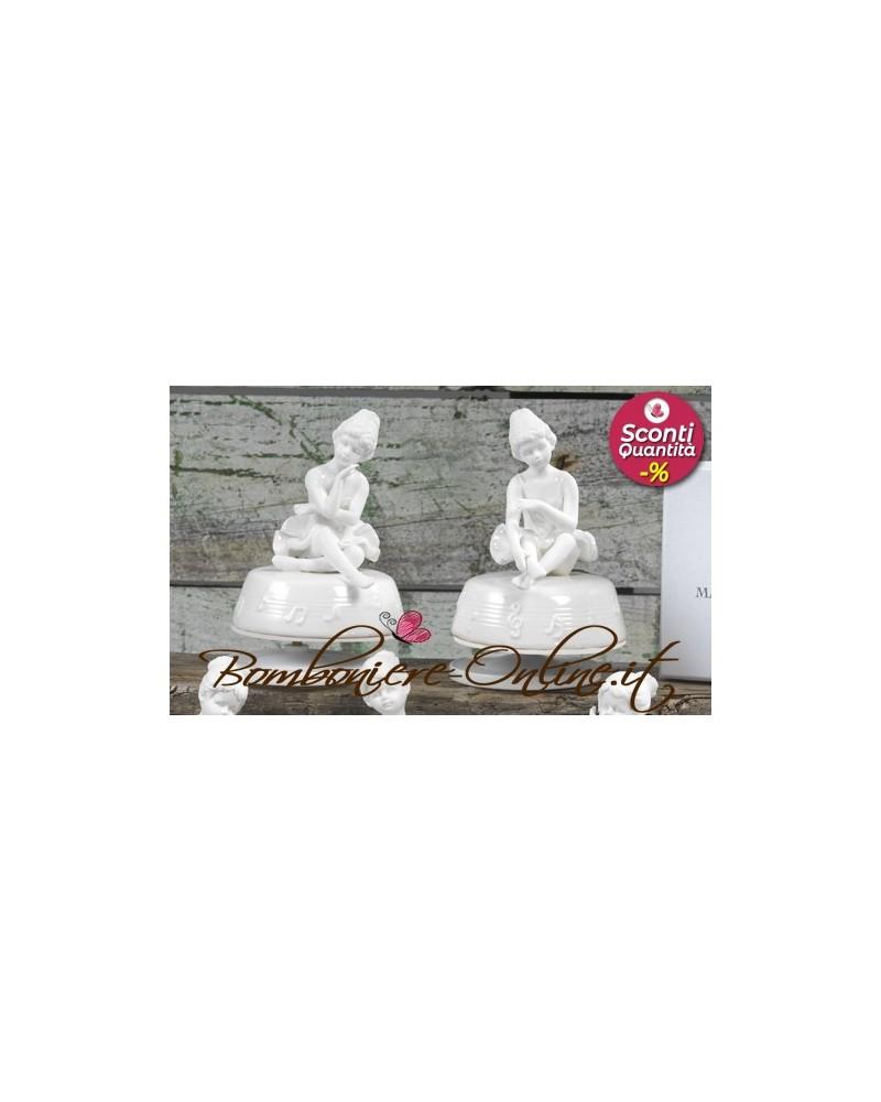 Bomboniere Comunione Cresima e Battesimo: Carillon con ballerina in porcellana bianca