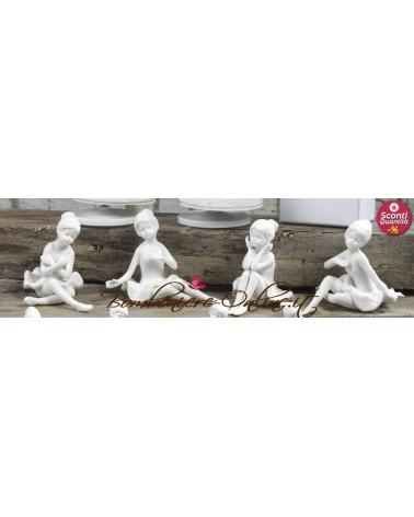Ballerina porcellana bianca grande