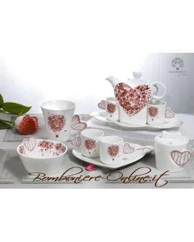 """Bomboniera nozze Zuccheriera  in ceramica linea """"In love"""""""