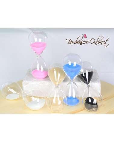 Bomboniere Clessidre in vetro colori assortiti
