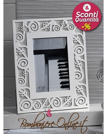 Cornice portafoto con note musicali