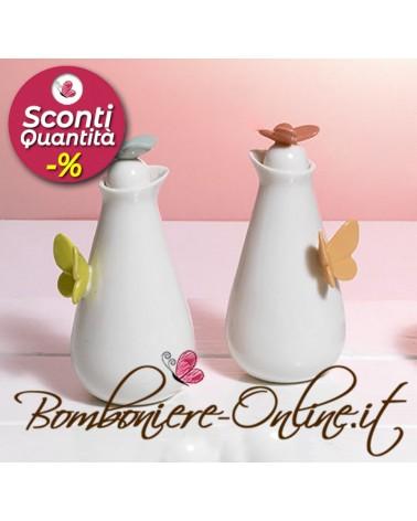 """Set boccettine per olio/aceto  in ceramica collezione """"Butterfly"""""""