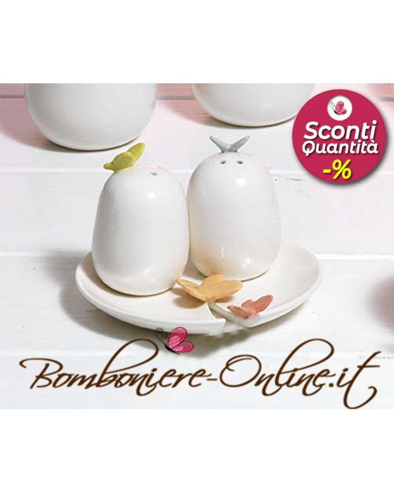 """Set per sale e pepe  in ceramica collezione """"Butterfly"""""""