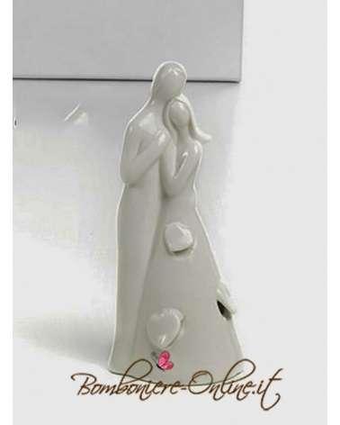 """Statuina con sposi linea """"Sposi con luce"""""""