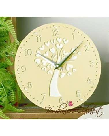 """Orologio serie in legno colorato crema serie """"Giove"""""""