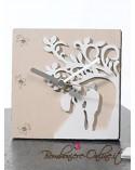 """Orologio in legno bicolore grande """"Wedding tree"""""""