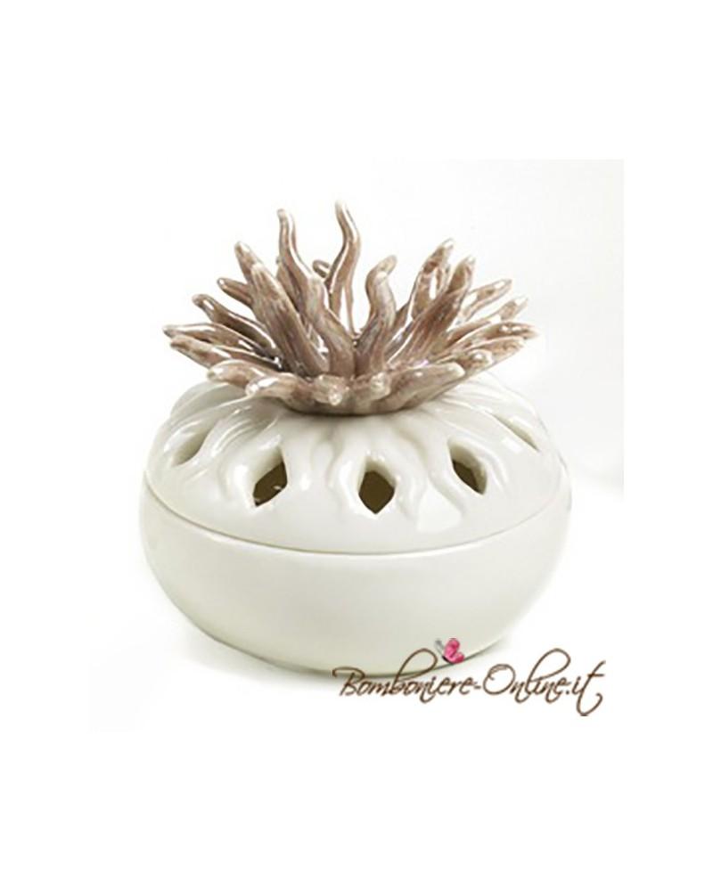 """Scatolina in ceramica linea """" Curly"""" rami marroni"""