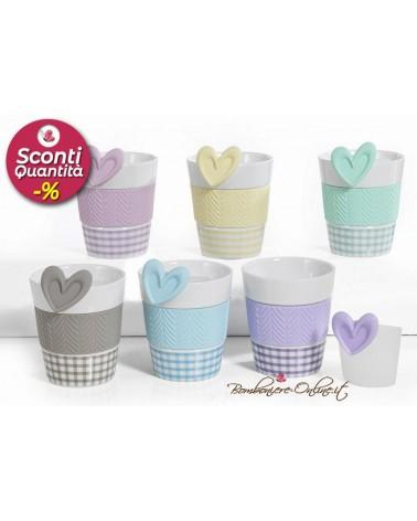 """Set di tazze colorate  collezione """" Tea Party"""""""