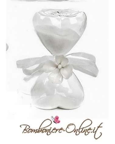 """Bomboniera clessidra a forma di fiore . Collezione """" Ortensia"""""""
