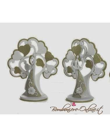 """Statuina  con innamorati sotto l' albero. Collezione """"Lovers"""""""