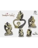 Statuina con innamorati stilizzata