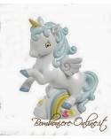 """Salvadanaio unicorno azzurro collezione """" Baby Unicorn"""""""