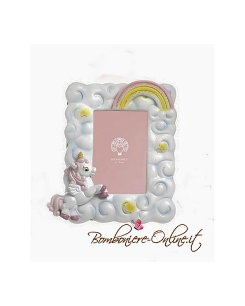"""Portafoto  unicorno rosa collezione """" Baby Unicorn"""""""