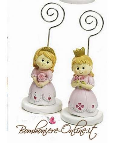 """Segnaposto Bomboniera principessa con clip portafoto collezione """" The Royal"""""""
