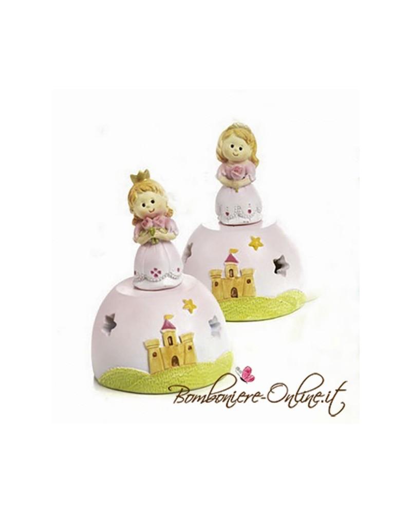"""Bomboniera principessa con lucina collezione """" The Royal"""""""