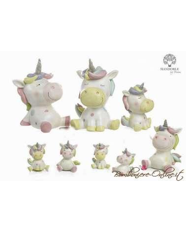 """Bomboniera salvadanaio unicorno  collezione """" Golden Unicorn"""""""