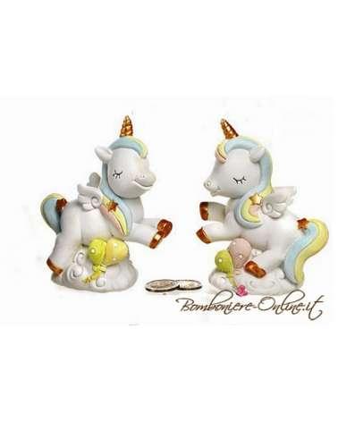 """Salvadanaio con unicorno  collezione """" Golden Unicorn"""""""