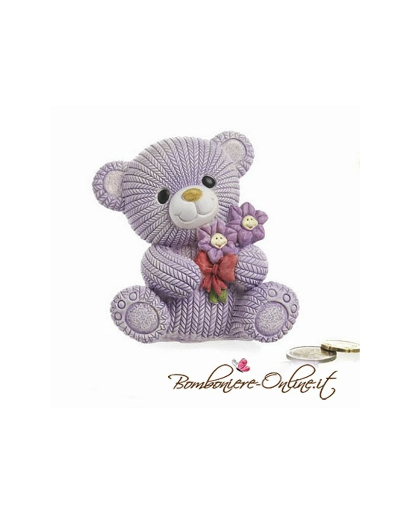 """Salvadanaio orsetto lana girl collezione """" Dino l' orsacchiotto"""""""