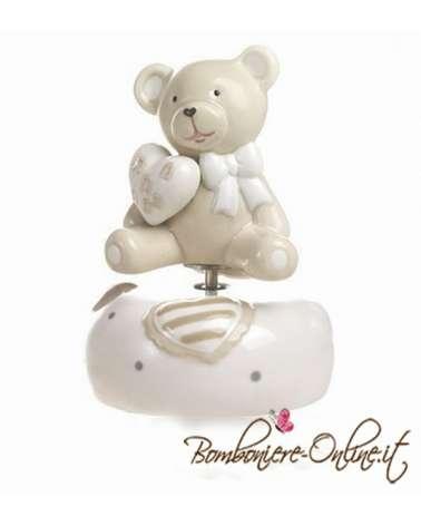 """Bomboniera carillon orso collezione """"Bernie love music"""""""