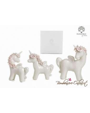 """Bomboniera unicorno grande collezione """"Porcellain unicorn"""""""