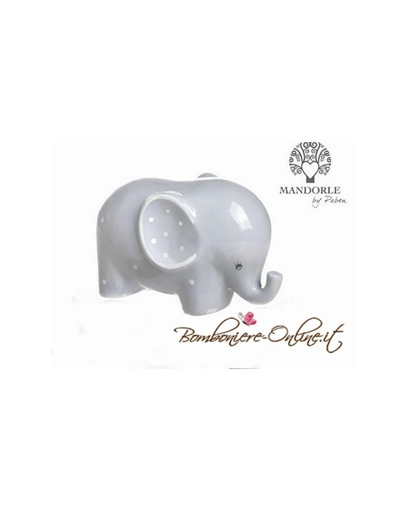 """Salvadanaio elefantino celeste collezione """"Lillo e Lilla"""""""
