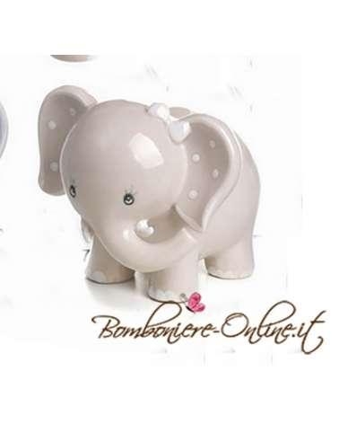 """Elefantino rosa grande in porcellana """"Lillo e Lilla"""""""