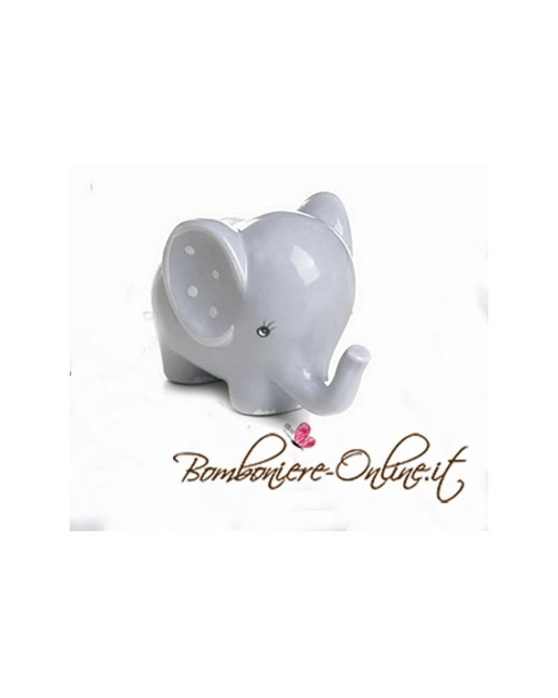 """Bomboniera elefantino celeste medio collezione """"Lillo e Lilla"""""""