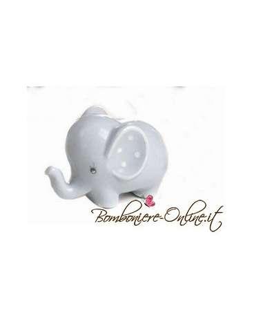 """Elefantino azzurro piccolo in porcellana """"Lillo e Lilla"""""""