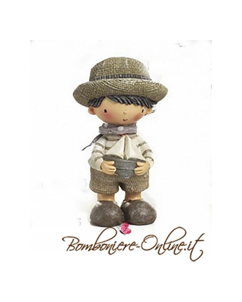 """Comunione o Cresima: Bomboniera Bimbo con cappello collezione """"Les Chapeaux"""""""