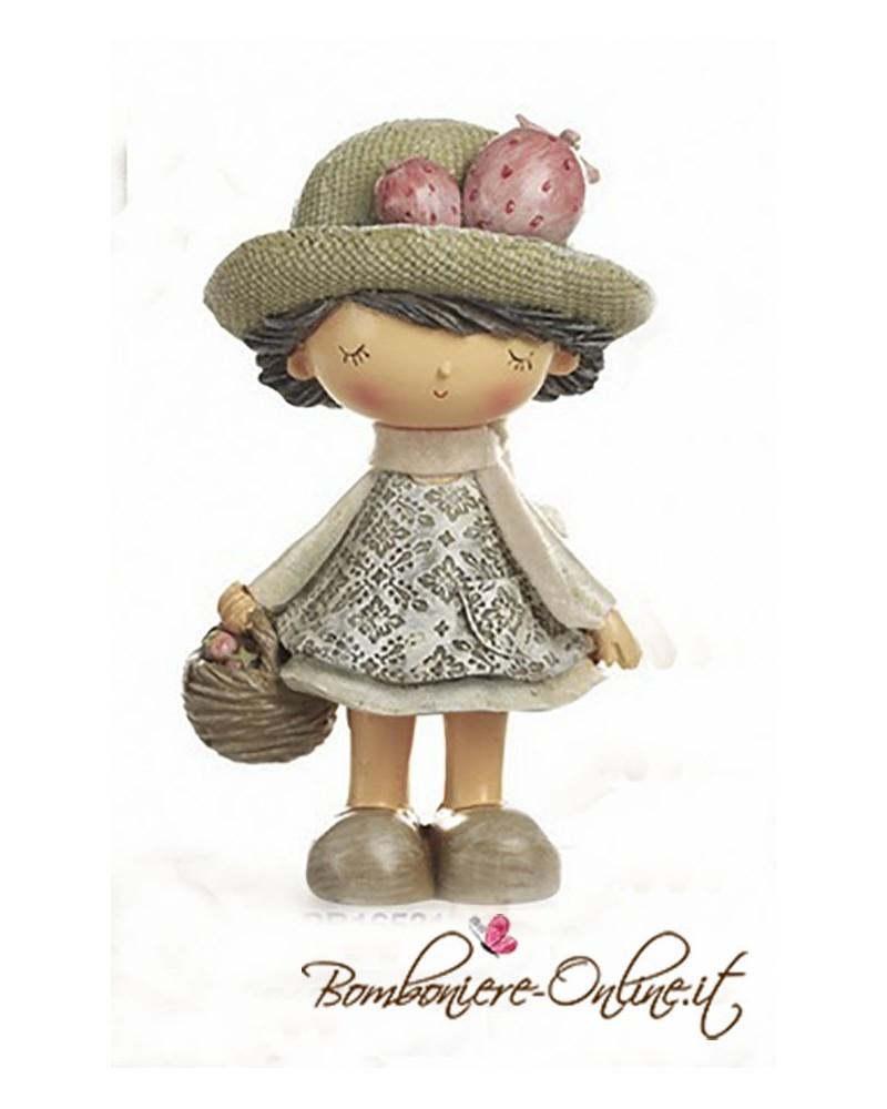 """Comunione o Cresima: Bomboniera Bimba con cappello collezione """"Les Chapeaux"""""""