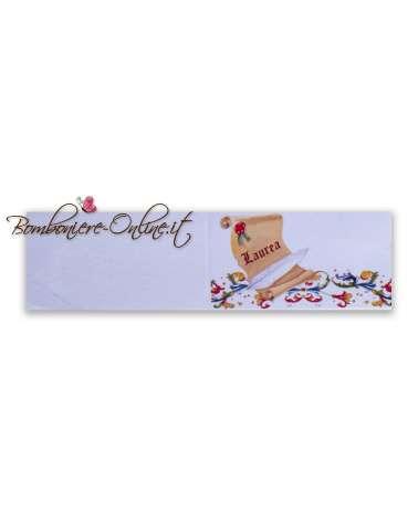 Biglietti bomboniera Laurea pergamena