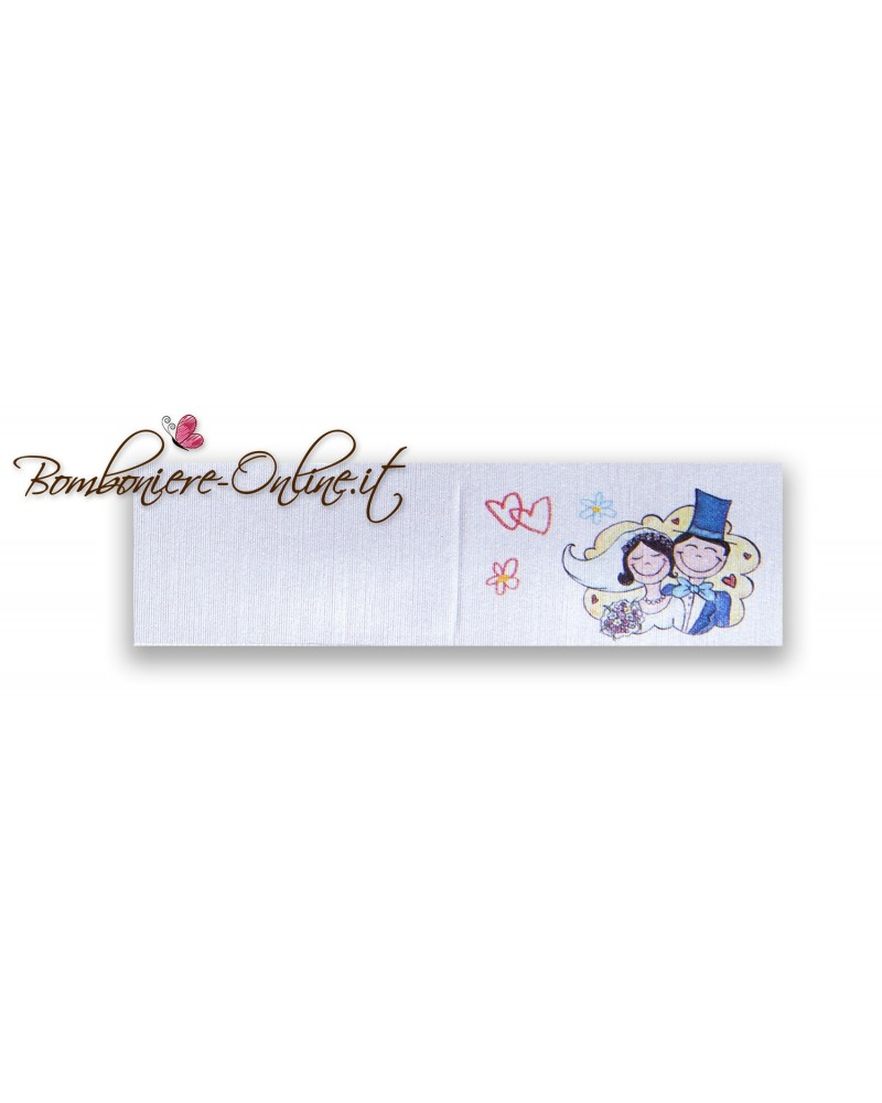 Biglietti bomboniera matrimonio vignetta