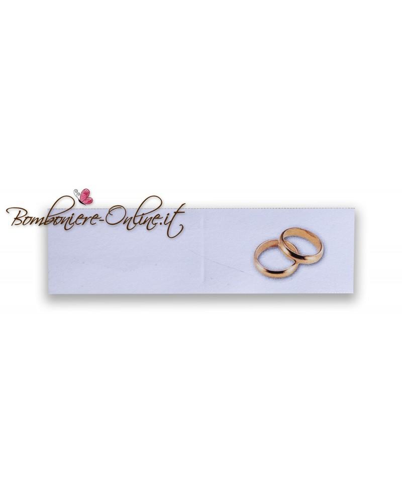 Biglietti bomboniera matrimonio fedi oro