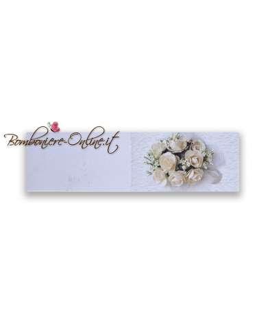 Biglietti bomboniera matrimonio Bouquet rose