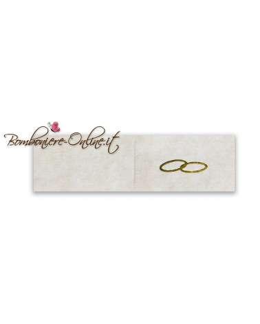 Biglietti bomboniera matrimonio anelli fedi