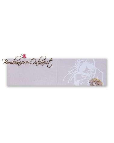 Biglietti bomboniera matrimonio Sposi e bouquet Grafic