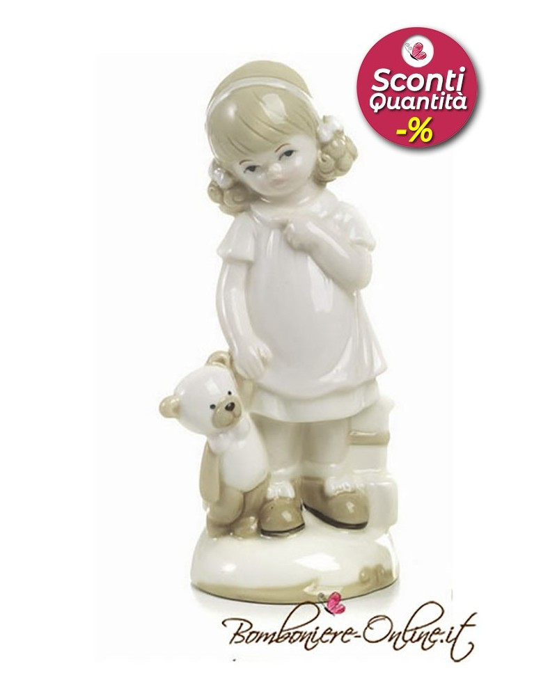 """Bomboniera Bimba con orsetto collezione """"Dolly"""""""