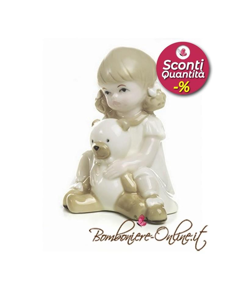 """Bomboniera Bimba seduta con orsetto collezione """"Dolly"""""""